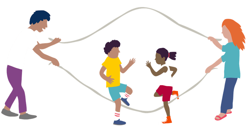 Drawing family children's. And childhood fitness