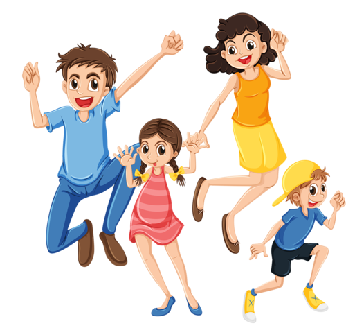Drawing family extended. Clip art transparent