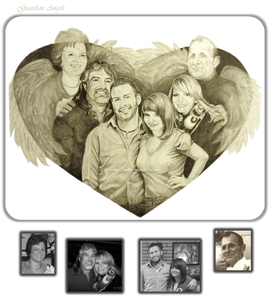 Portraits drawing family. Custom illustrations portrait paintings