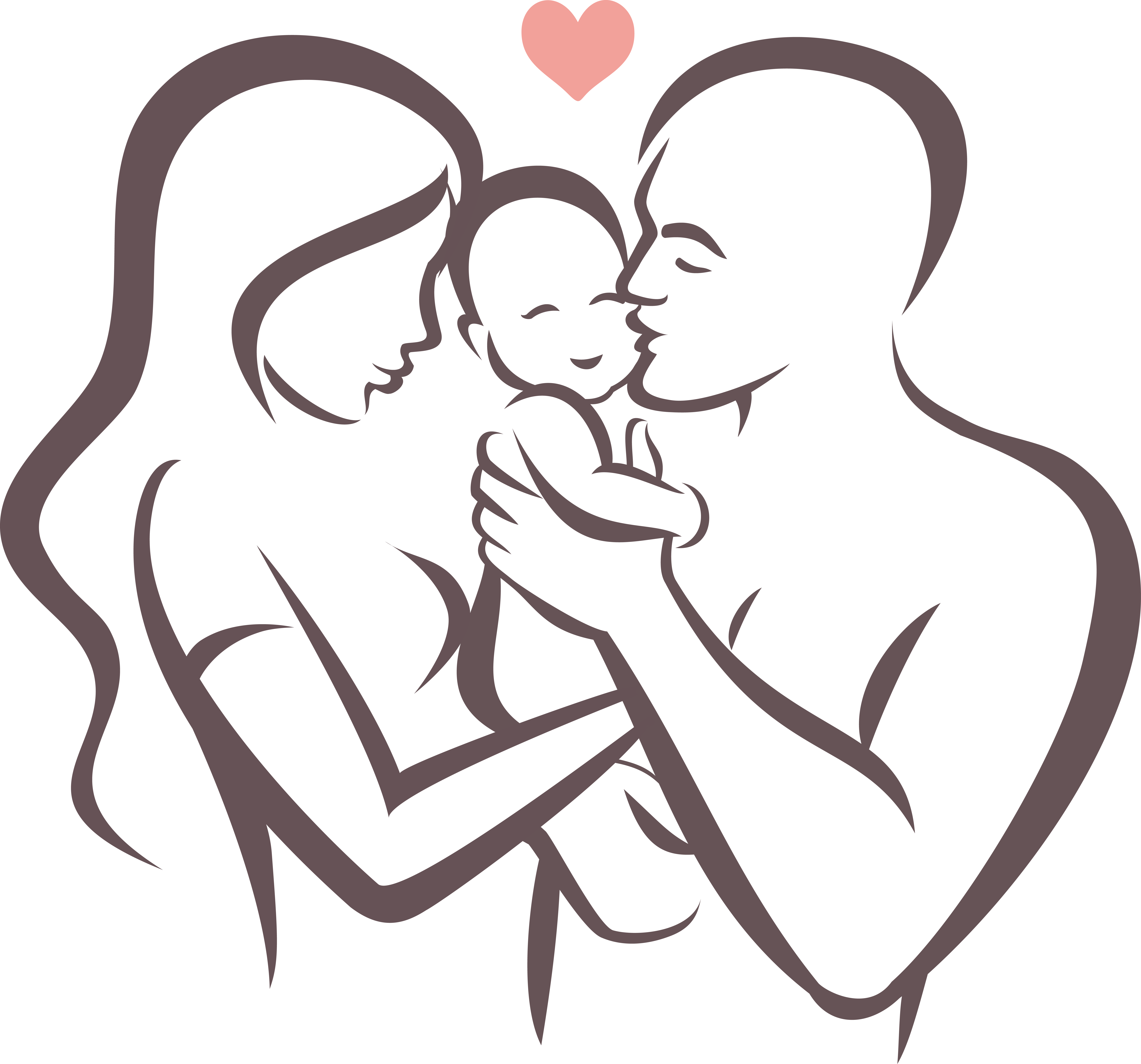 Drawing family. Father symbol stock illustration