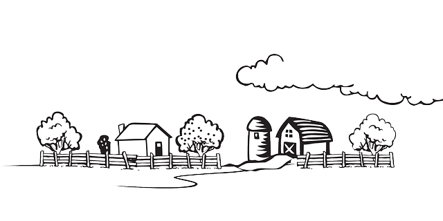 Farm animals prettylashes co. Drawing farmhouse easy clipart black and white library