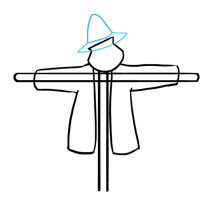 Hats drawing creepy. How to draw a