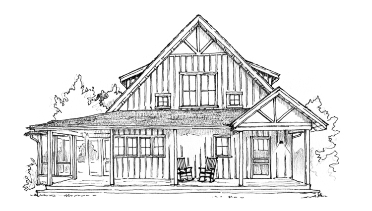 Mill creek vision sierra. Drawing farmhouse svg black and white