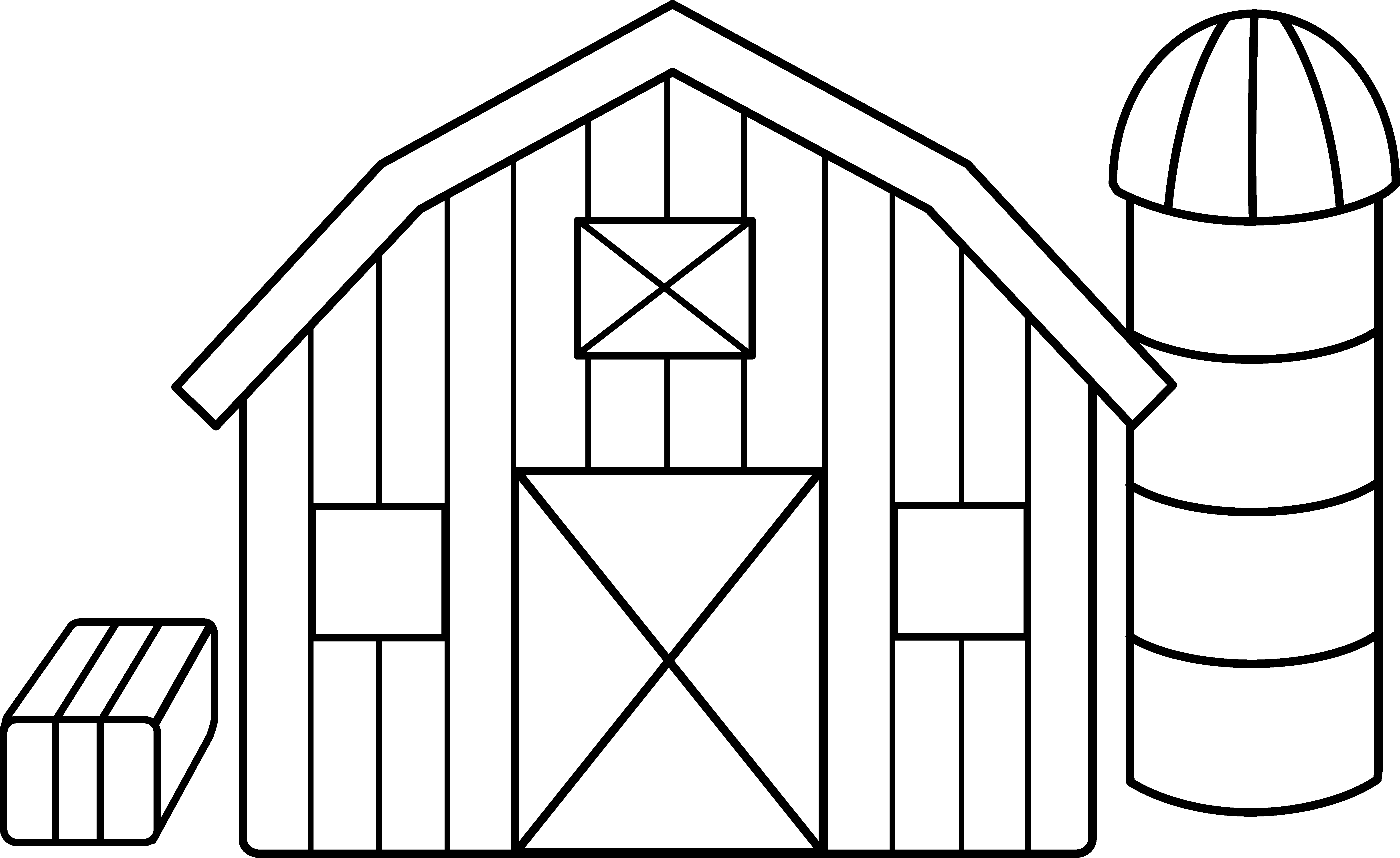 Drawing farmhouse agriculture. Clip library coloring