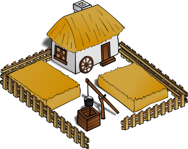 Drawing farmhouse animated. Clipart cute borders vectors