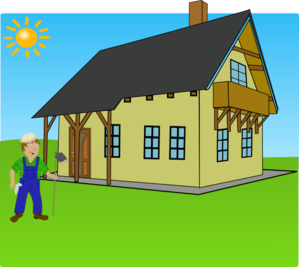 Drawing farmhouse agriculture. Free animated farming cliparts