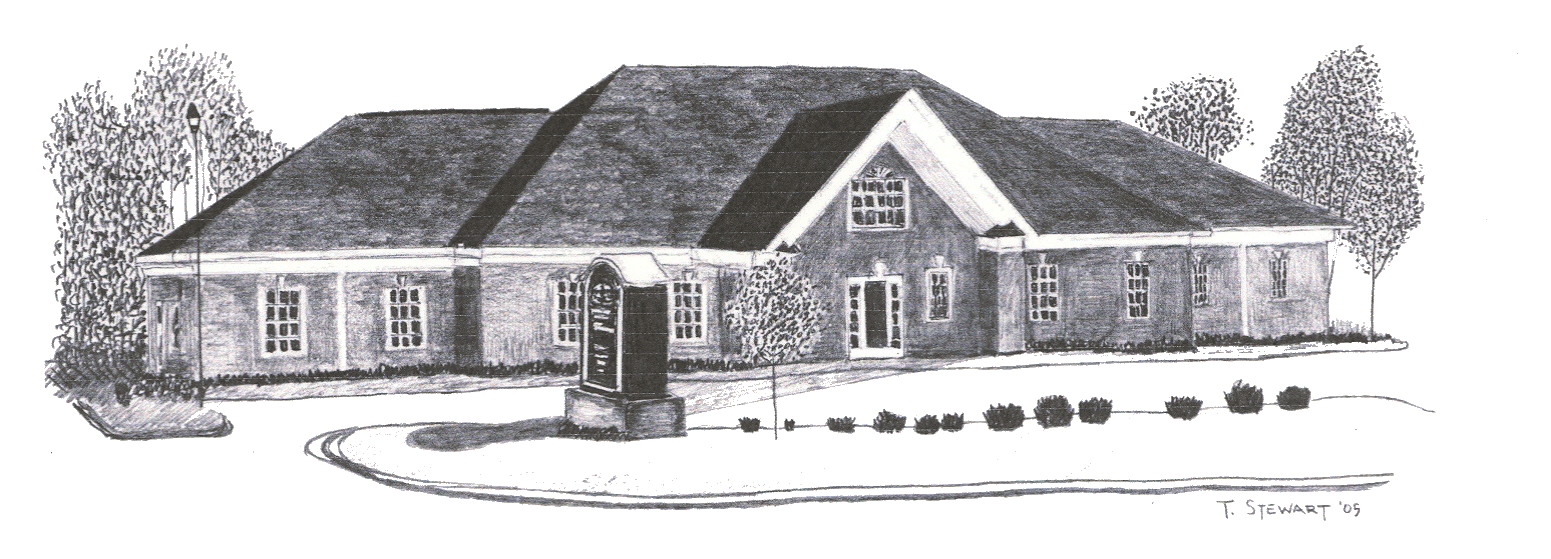 Drawing farmhouse winter. Home turner agency insurance