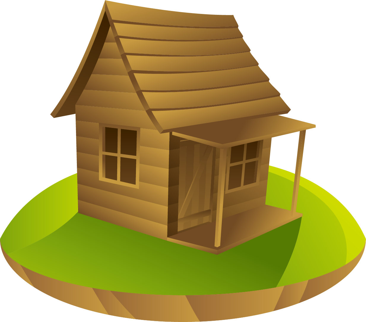 Cabin drawing a in. Cottage vector log house svg freeuse library