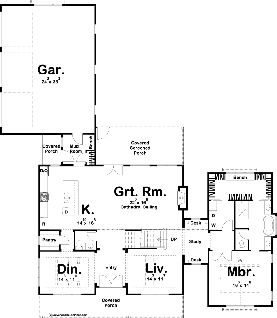 Drawing farmhouse modern house. Harmdierks plans and cathedral