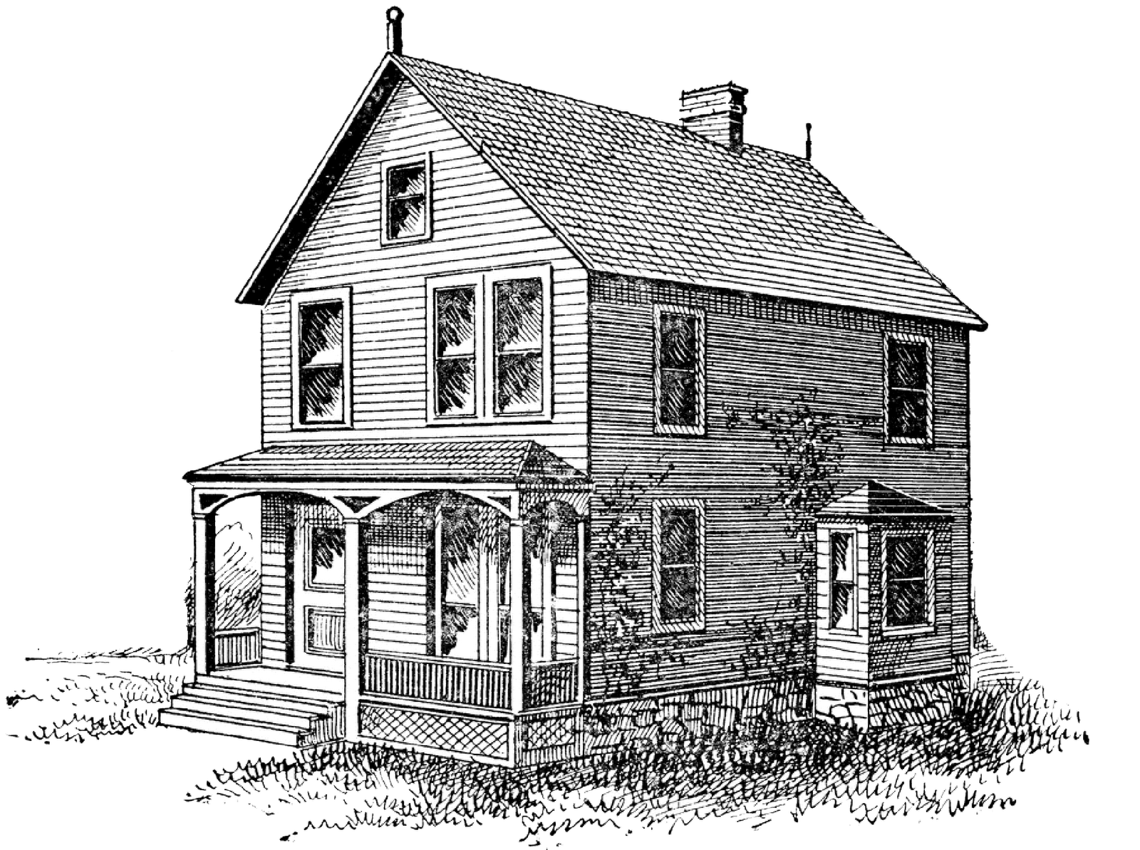 Drawing farmhouse old. Image result for vintage