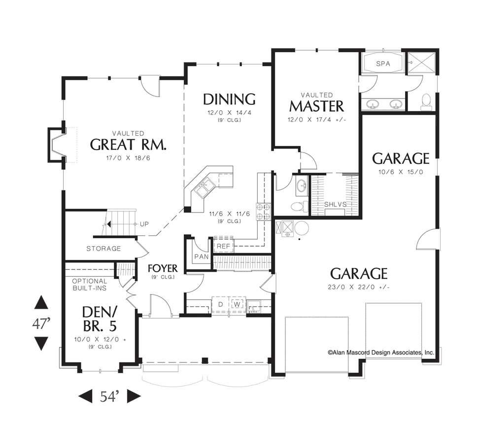 Drawing farmhouse traditional. House plan a the