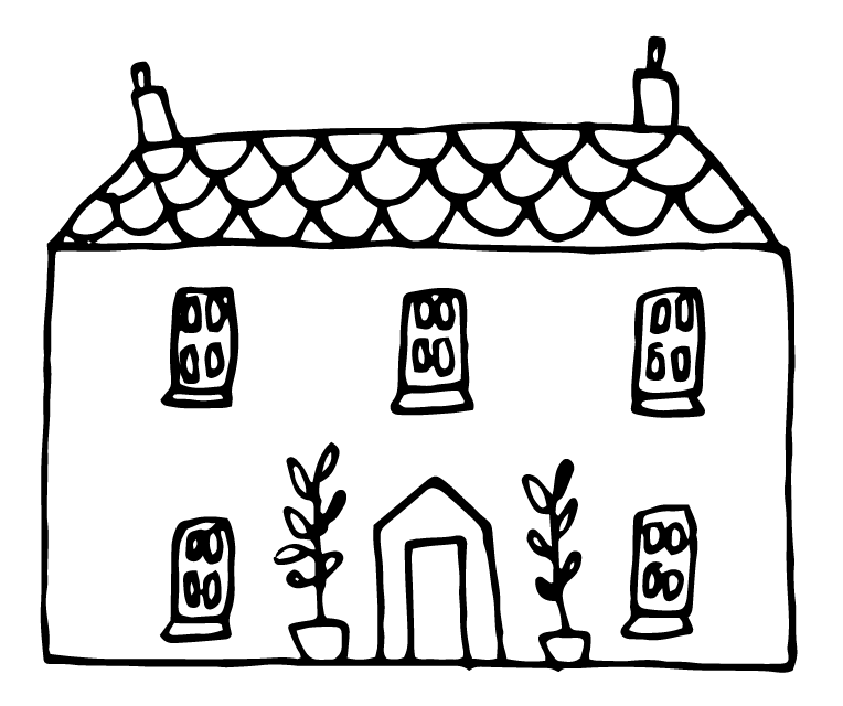 Drawing farmhouse. The creative