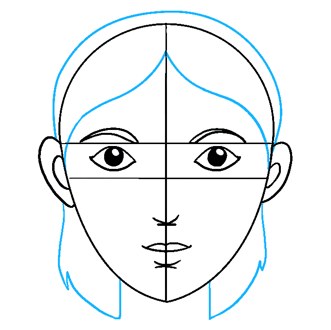 Drawing structure face. How to draw a