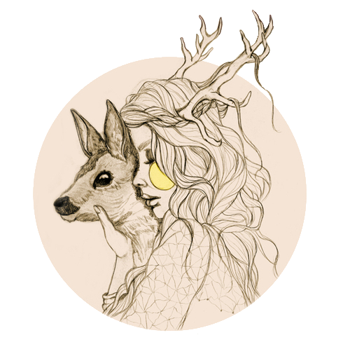 Occult drawing deer. Pin by agustina arana