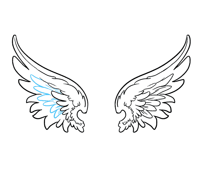 Drawing feather artistic. How to draw angel