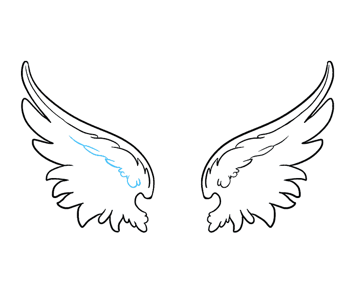 Drawing feather detail. How to draw angel