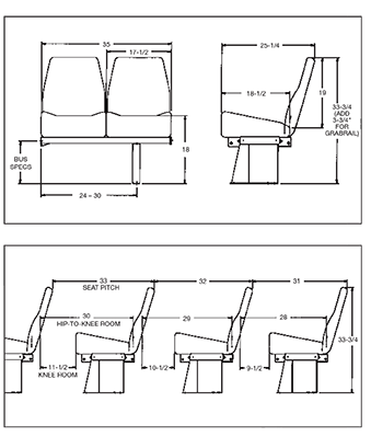 Drawing feather diagram. Weight low back seat