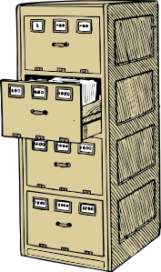 Drawing file filing cabinet
