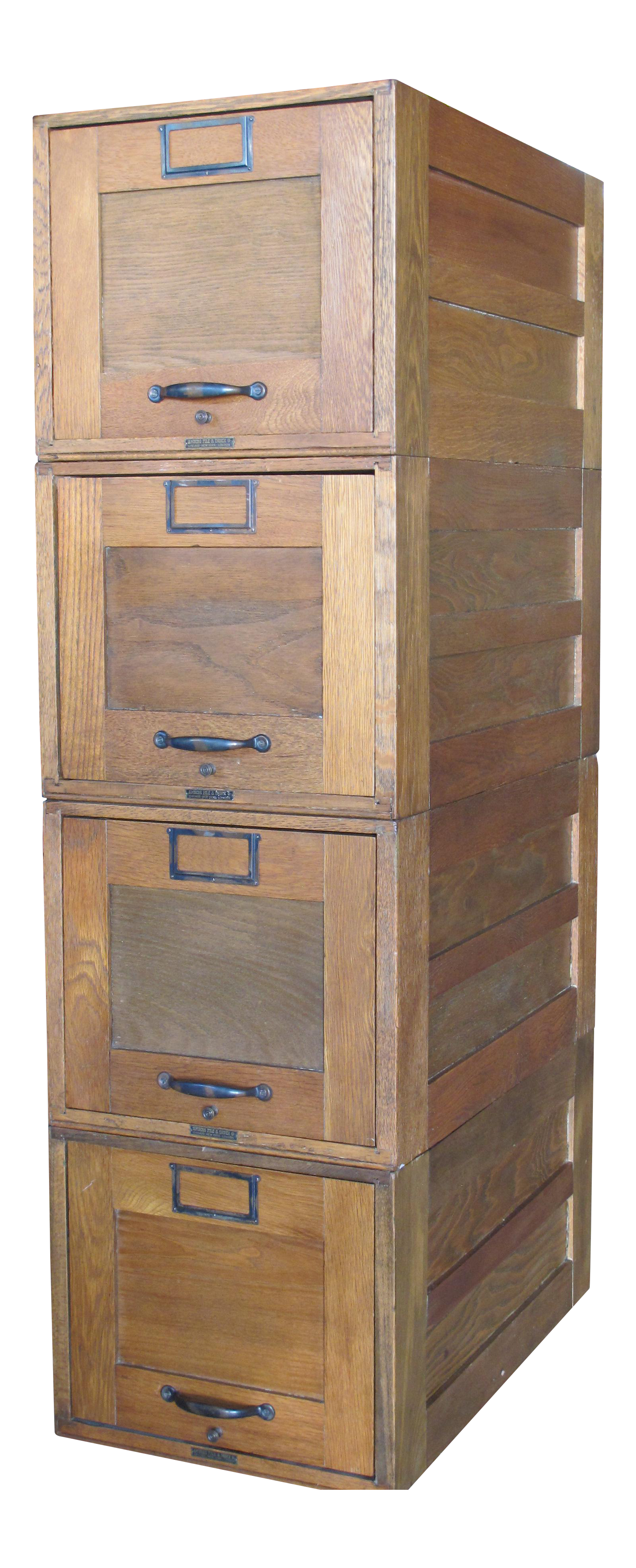 Drawing file four drawer. Early s amberg index