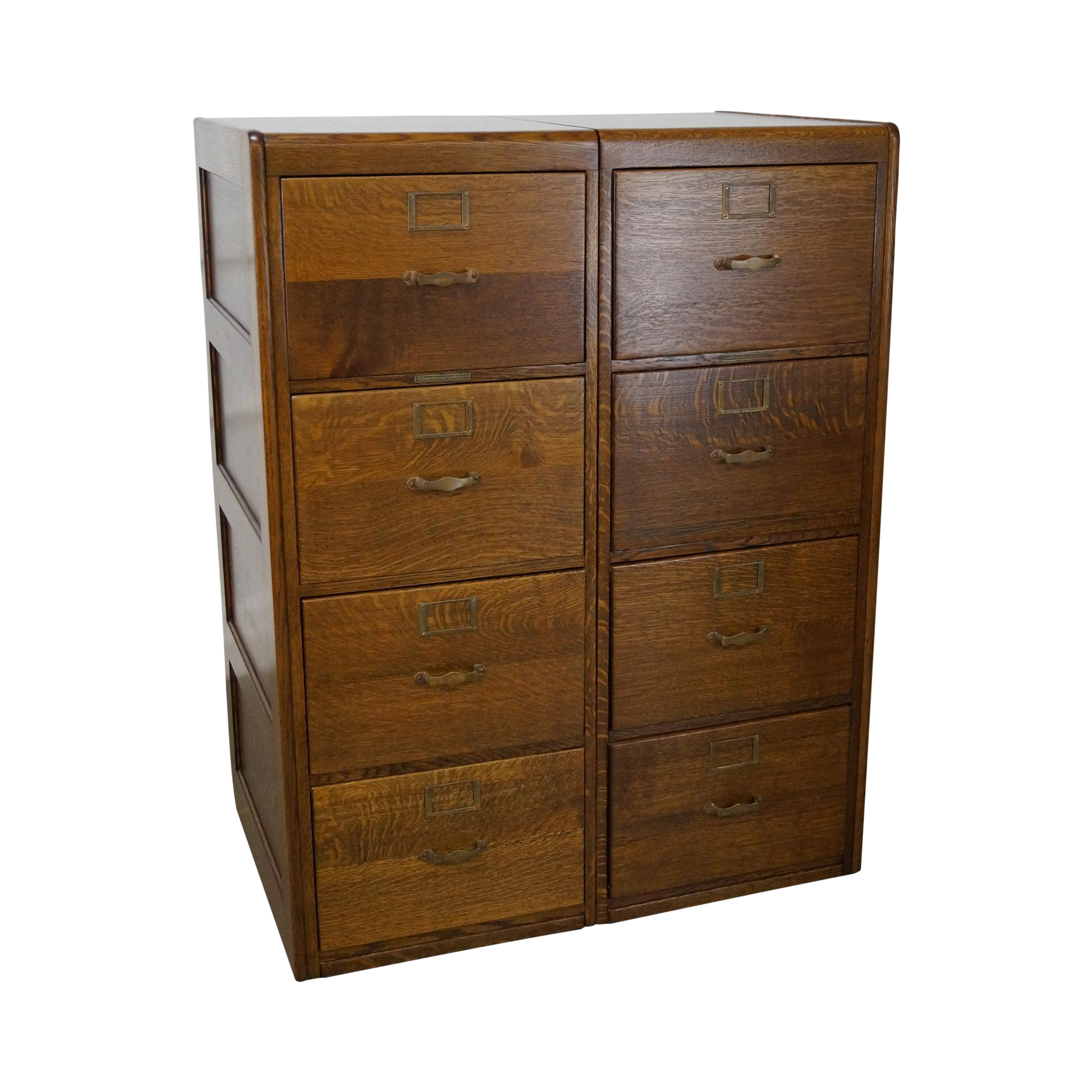 Drawing file four drawer. Antique library bureau sole