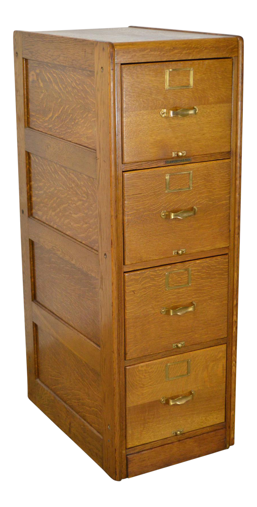 Drawing file four drawer. Library bureau sole makers