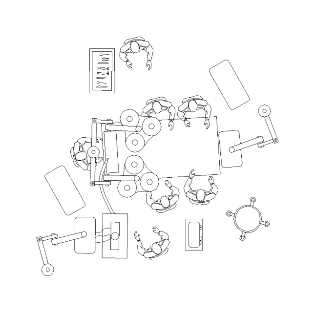 Surgery drawing operating room. Theatre cad layout dwg
