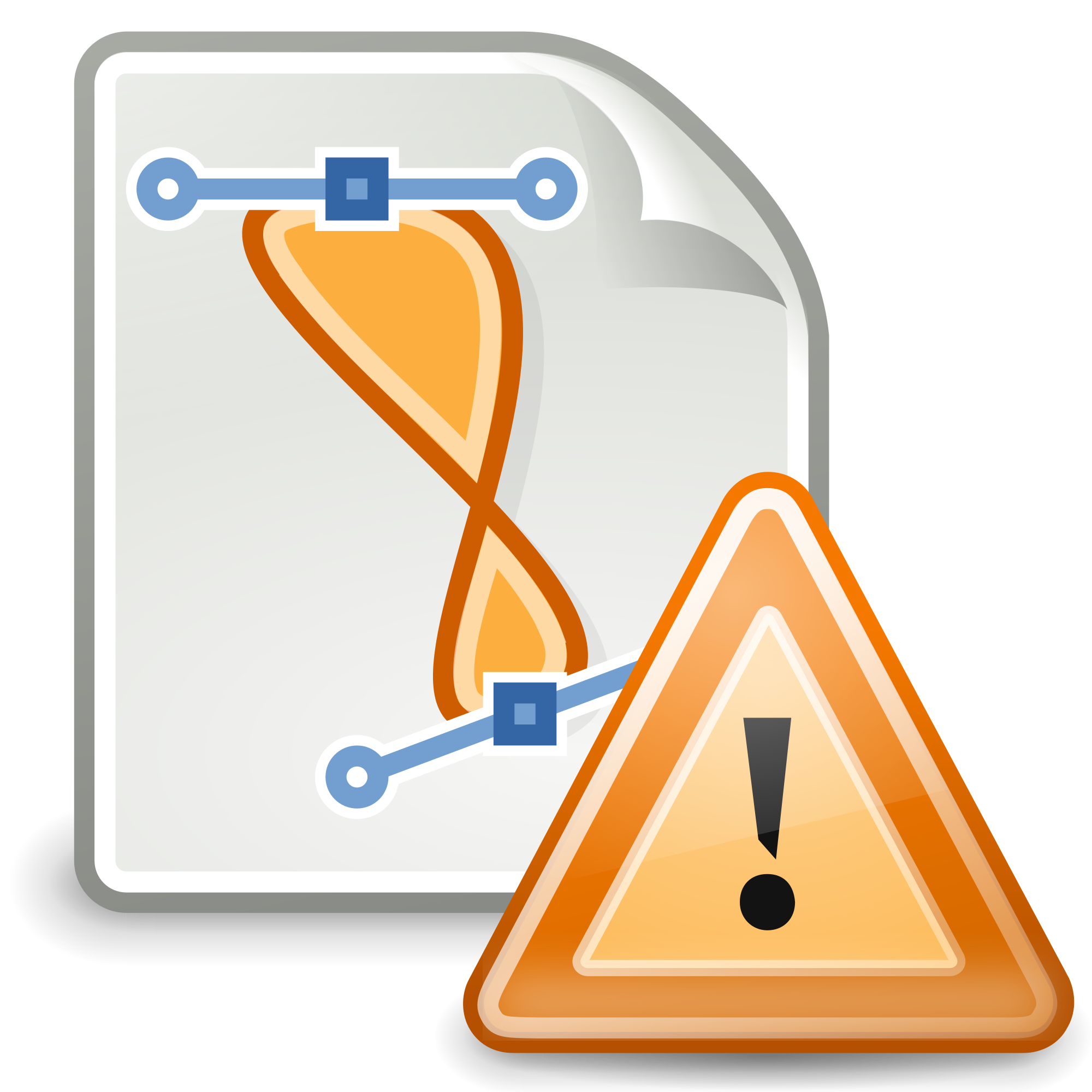 Drawing file office. Gnome x warning svg