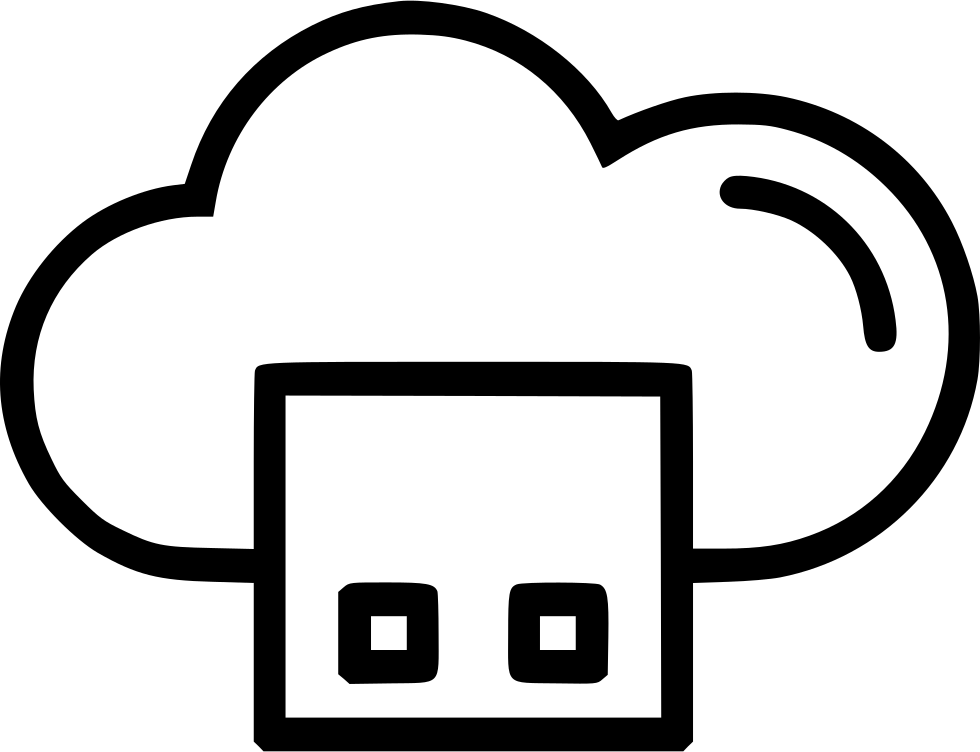 Drawing file storage. Cloud square svg png