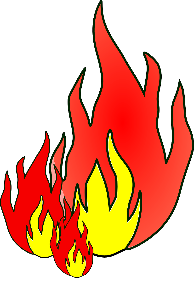 Drawing flame. How to draw flames