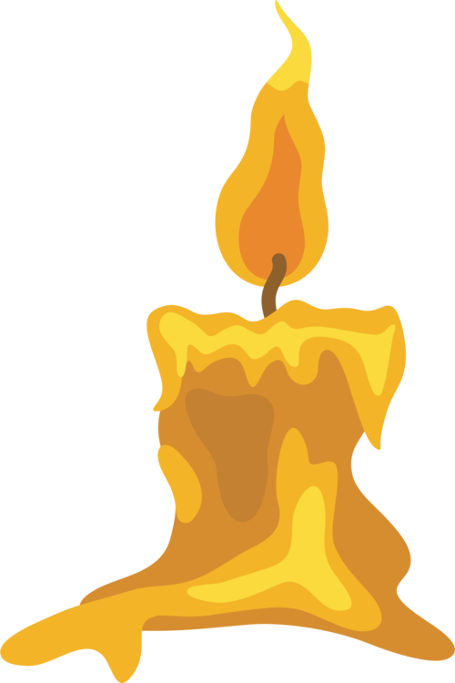 Drawing flame. Candle cartoon free commercial