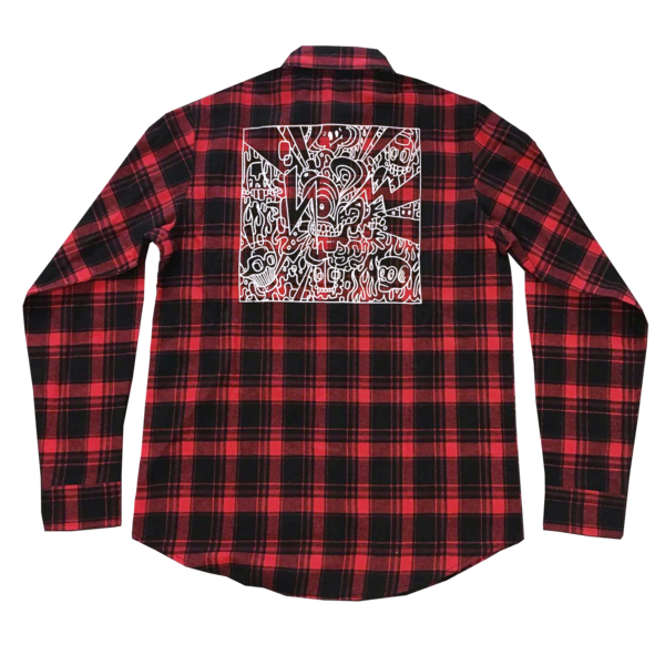 Drawing flannel plaid shirt. Mike shinoda official store