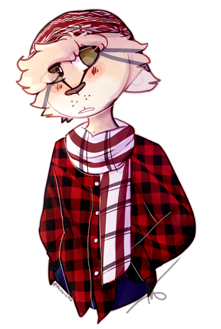 Drawing flannel plaid fashion. Its a good look