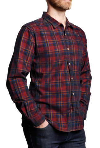 Drawing flannel plaid shirt. Products meridian line cordito