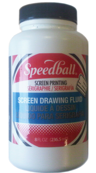 Drawing fluid. Screen printing filler speedball