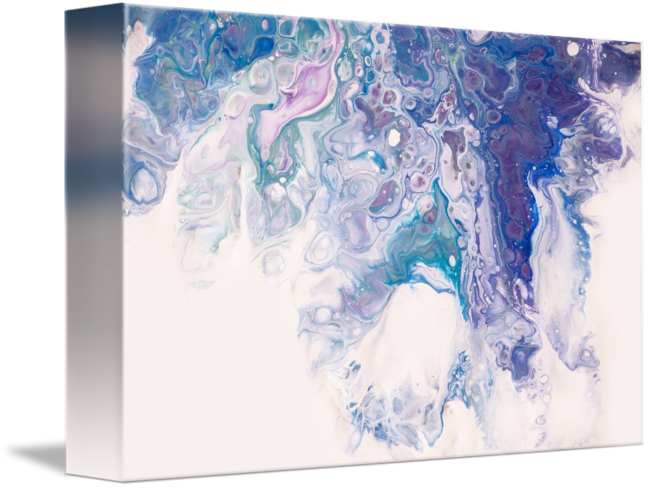 Drawing fluid abstract nature. Underwater worlds fragment acryl