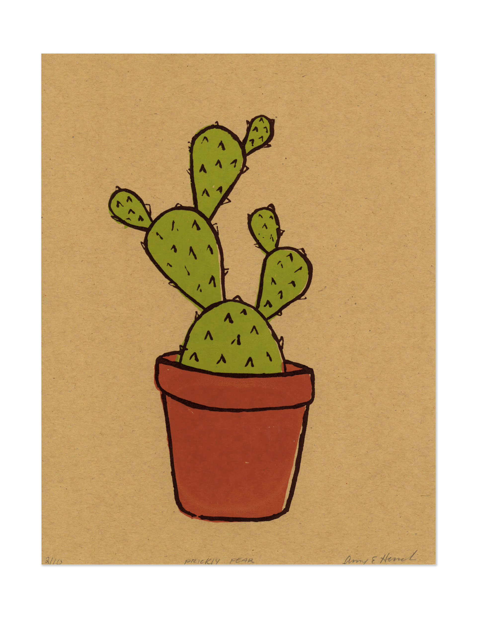 Amy schaffer prickly pear. Drawing fluid png black and white