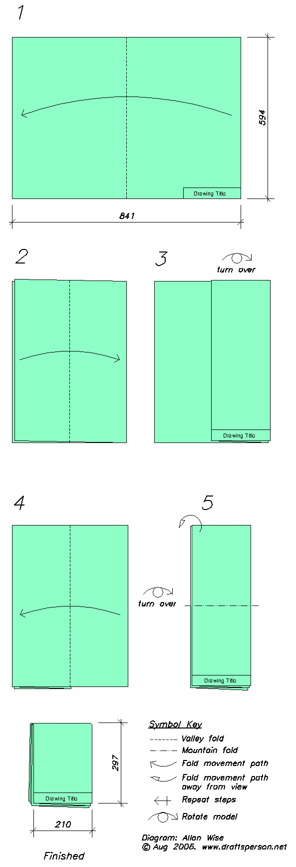 Drawing folding. How to fold an