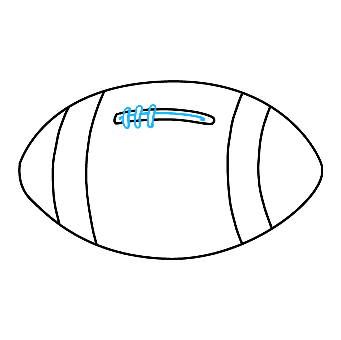 Drawing football. How to draw a