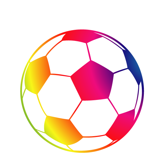 Ball clip football drawing. American line art color