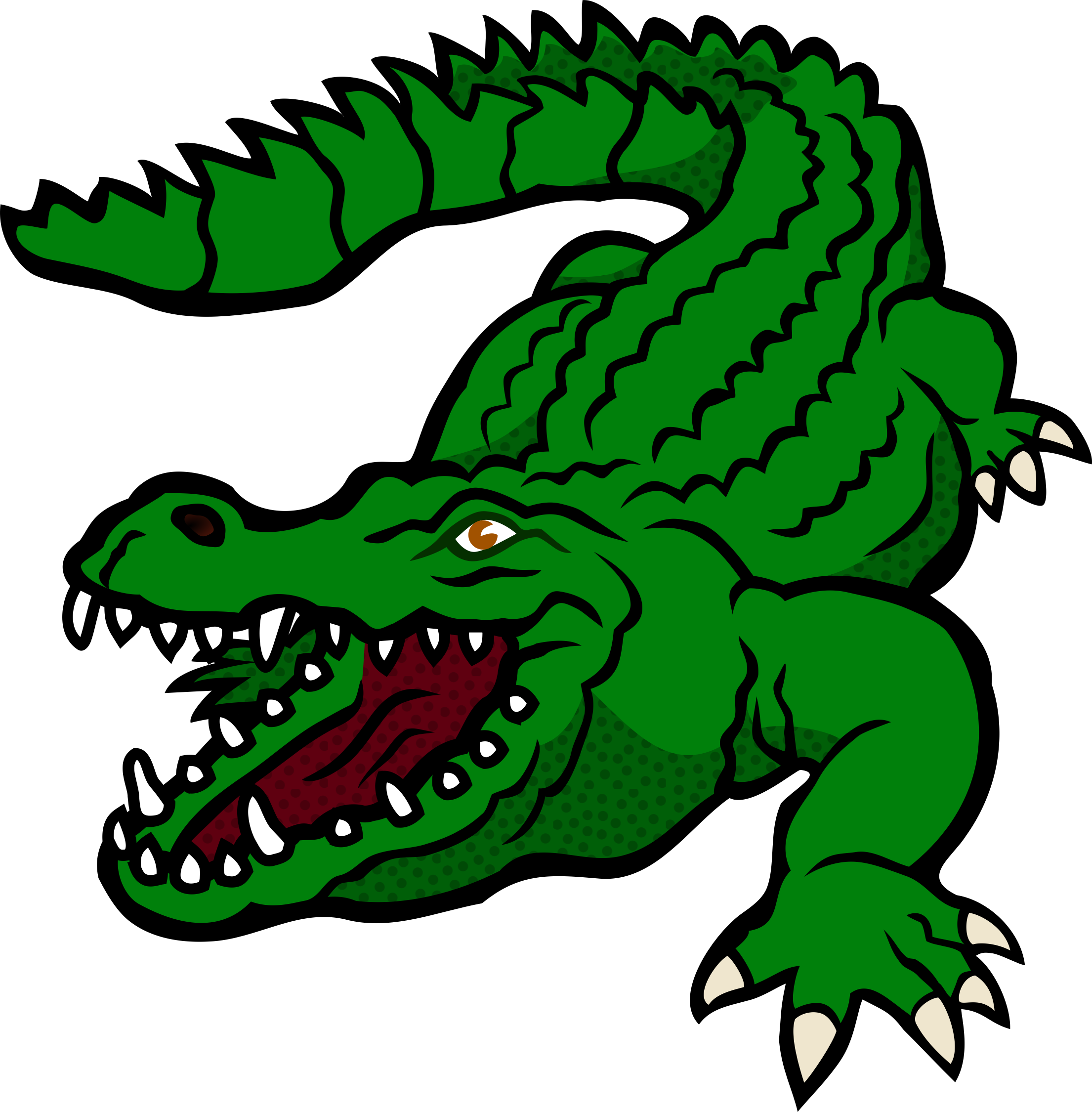 Vector footprints crocodile. Cartoon alligator clipart at