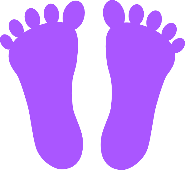 Drawing footprints barefoot. Footsteps clipart freeuse