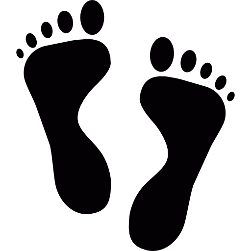 Drawing footprints bottom foot. Footsteps clipart freeuse
