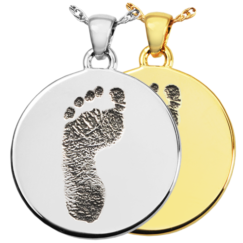 Drawing footprints name. Wholesale personalized jewelry round