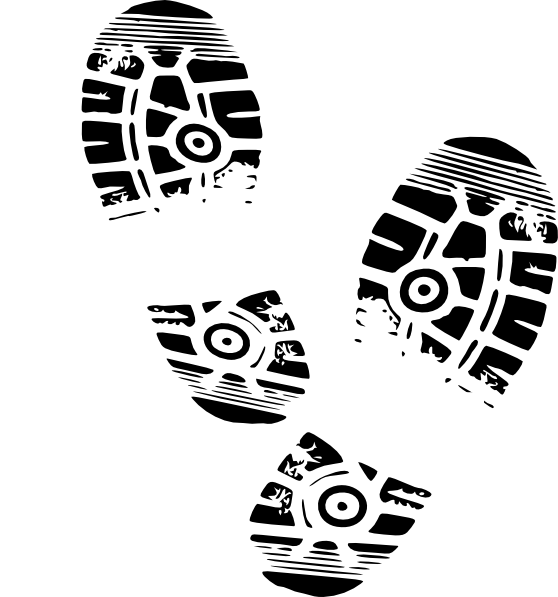 Drawing footprints running shoe. Free picture royalty