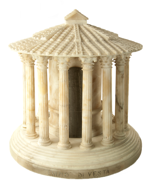 Drawing forum temple. An alabaster replica of