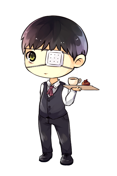 Transparent kaneki chibi. By drawn mario on