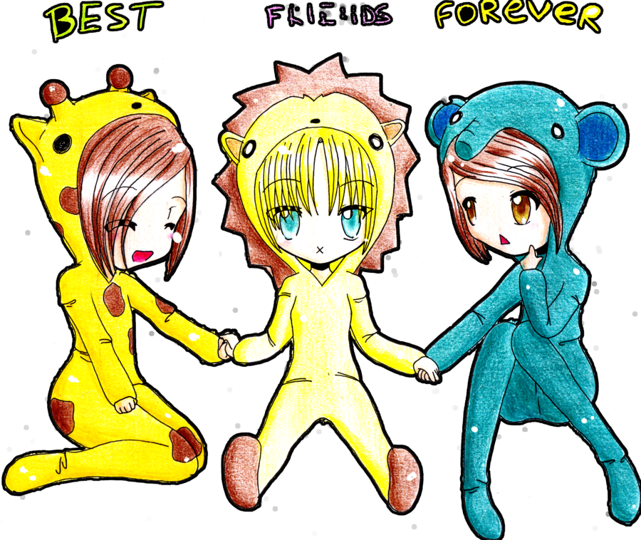 Drawing candy best friend. Friends forever by fuumika