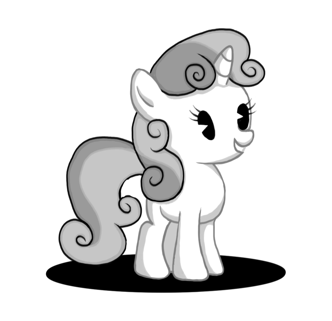 Image my little pony. Drawing friendship black and white svg freeuse stock
