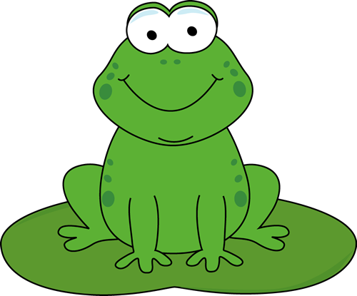 On lily pad clipart. Drawing frog cartoony clip art black and white stock