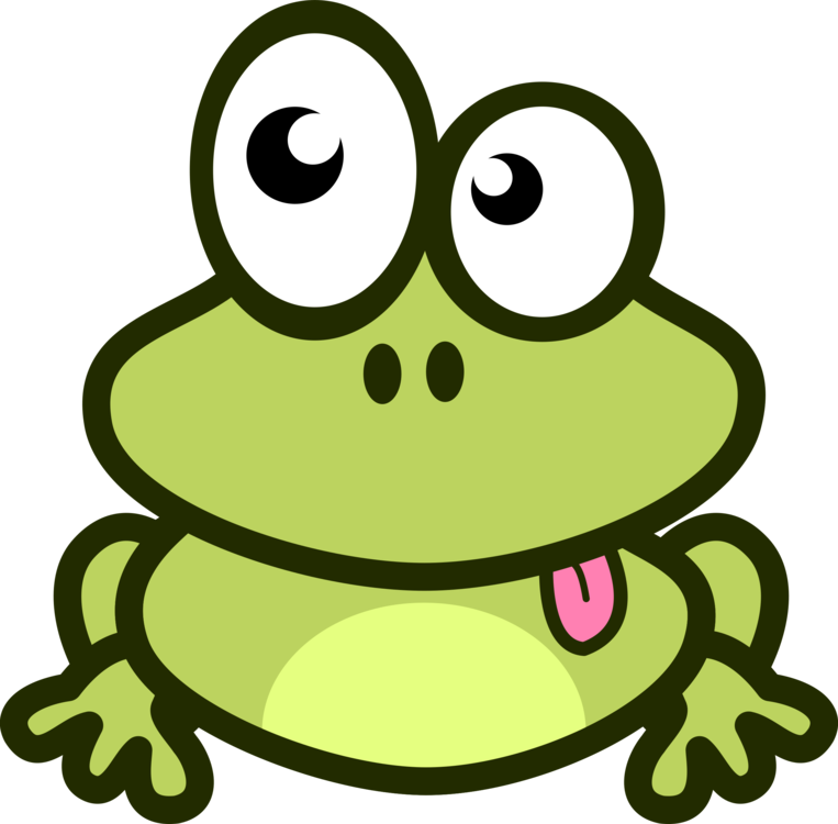 Drawing frog family. Cartoon free commercial clipart